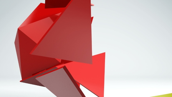 VideoHive Motion Graphics of 3D Abstract Geometric Shape Transformation Background 19322927