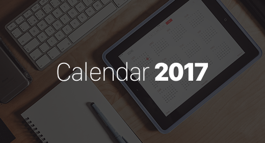 Calendar Template 2017