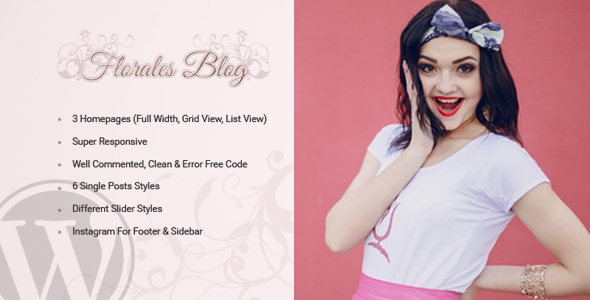 Download Florales Personal Blog WordPress Theme nulled download