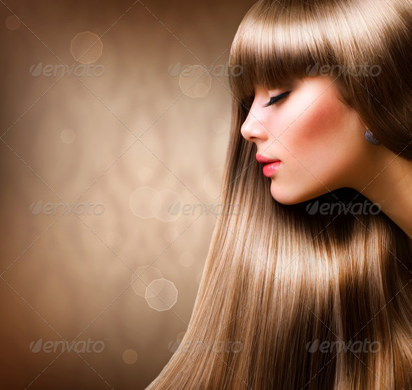 PhotoDune Blond Hair.Beautiful Woman with Straight Long Hair 1899216