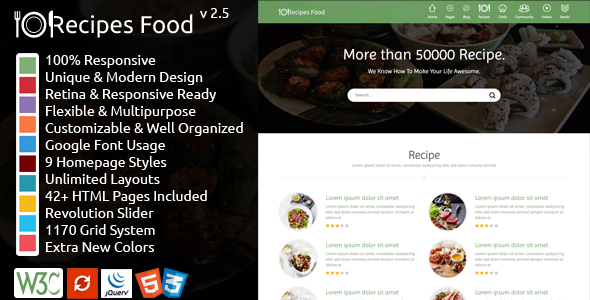 Recipes Food - Food Recipes HTML Template