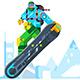 Download Vector Snowboarder Cartoon Character