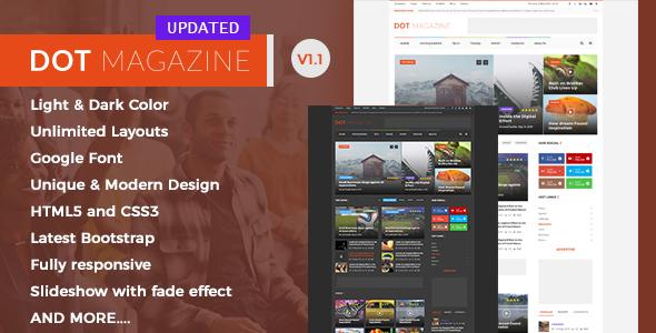 Dot Magazine HTML Templates