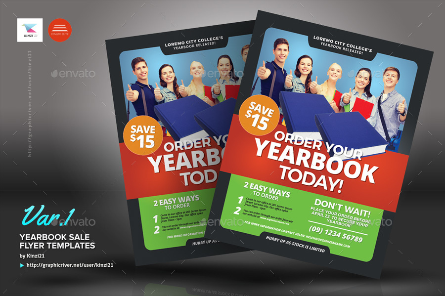 Yearbook Sale Flyer Templates by kinzi21 – Sales Flyer Template