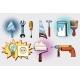Home Tools and Electrics, Pop Art Set