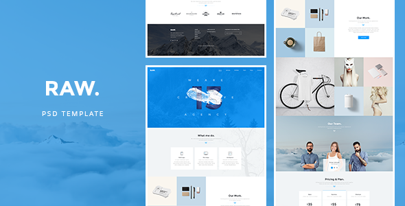 RAW - PSD Template