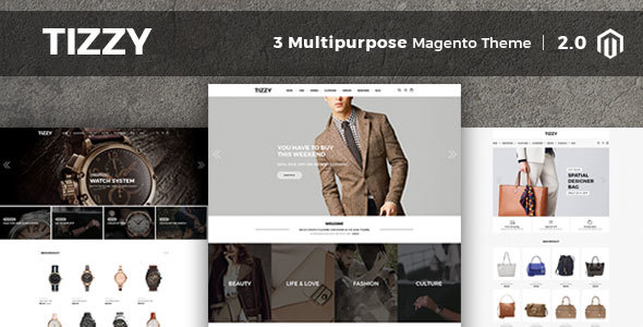 Tizzy - Multipurpose Responsive Magento2 Theme | Fashion Store | Watch Store | Cosmetic & Bag Store