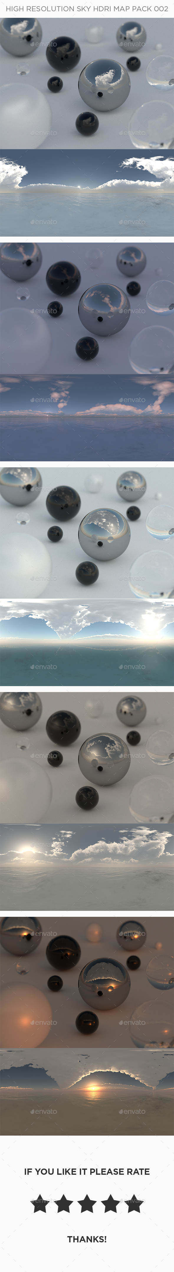 High Resolution Sky HDRi Map Pack 002 - 3DOcean Item for Sale