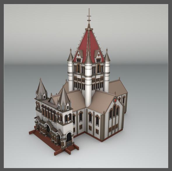 Trinity Church Boston - 3DOcean Item for Sale