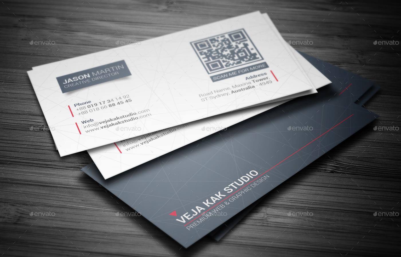Sleek Minimal Business Card by vejakakstudio   GraphicRiver