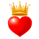 Hearts With Golden Crown