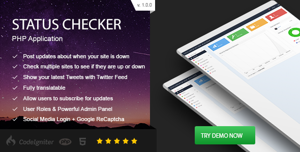 Download Status Checker - PHP Site Server Status nulled download