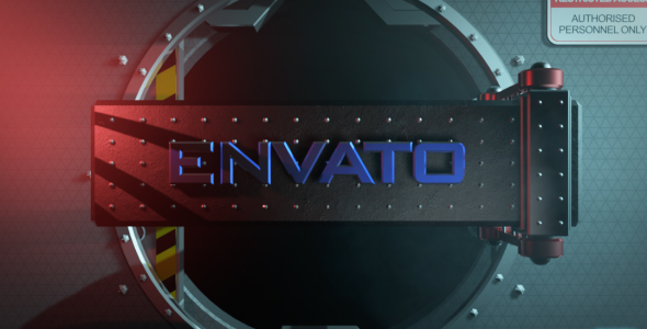 VideoHive 3D Vault Logo Text Reveal 2 19325294