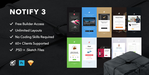 Notify3 - Notification Email + Themebuilder Access