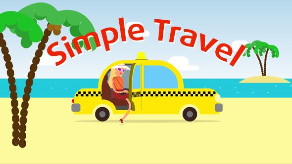 VideoHive Simple Travel Logo 19325659