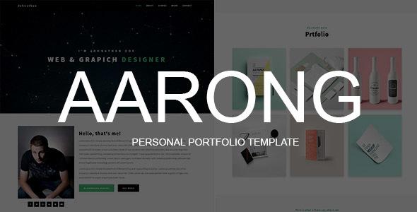 Aarong - Personal Portfolio Template