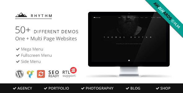 Preview 1.  large preview - Rhythm | Responsive WordPress Multi-Purpose Theme