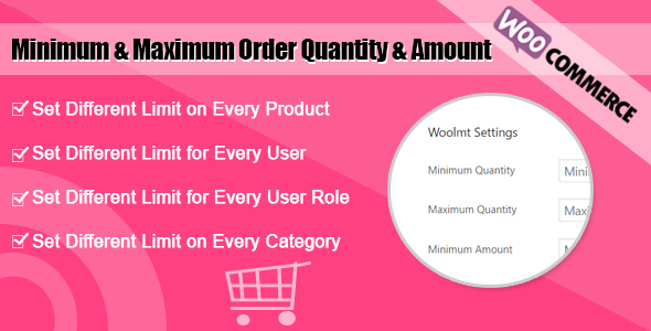 WooCommerce Minimum and Maximum Order Amount & Quantity