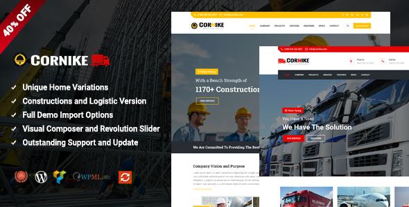 Cornike – Multi-Concept Business WordPress Theme (Business) images