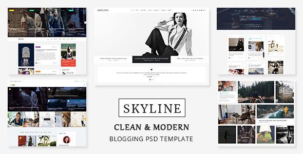 Skyline - PSD template for Bloggers