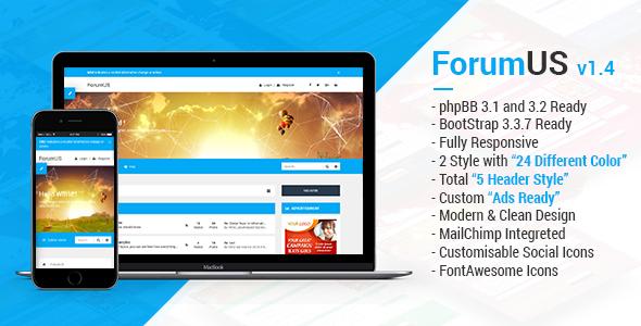 ForumUS   Responsive phpBB 3.1 & 3.2 Style / Theme