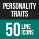 Personality Traits Line Icons