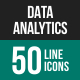 Data Analytics Line Icons