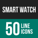 Smart Watch Line Icons