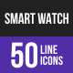 Smart Watch Line Inverted Icons