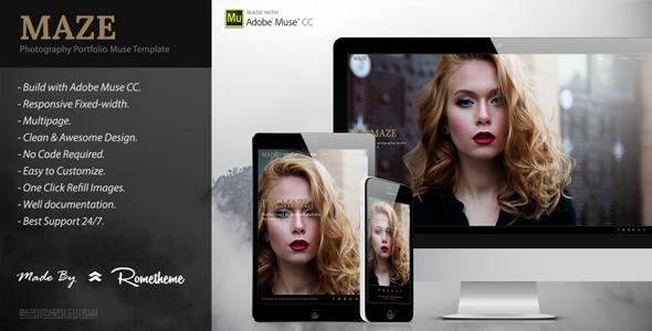 MAZE - Photography Portfolio Muse Template