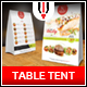 Restaurant Table Tent Menu