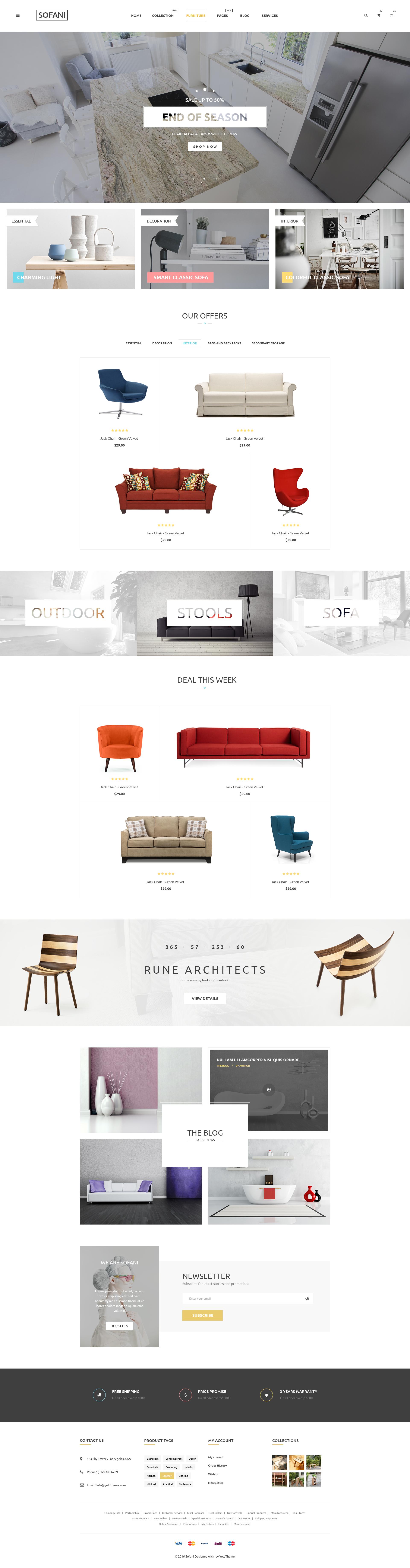 Sofani Furniture Store Woocommerce Wordpress Theme By Yolotheme Themeforest
