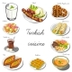 Download Vector Turkish Asia Cuisine Set. Collection of Food