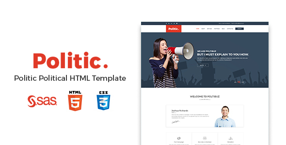Politic – Political HTML Template