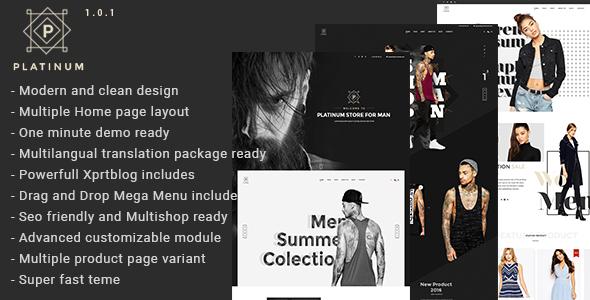 Platinum - Fashion & Accessories Prestashop Theme