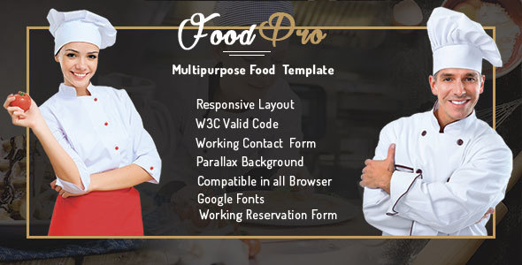 FoodPro Pizza - Icecream - Bakery - Restaurant Multipurpose Template