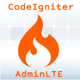 CodeIgniter integrated with AdminLTE Template