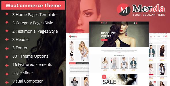 Menda - Multi Purpose WooCommerce Theme