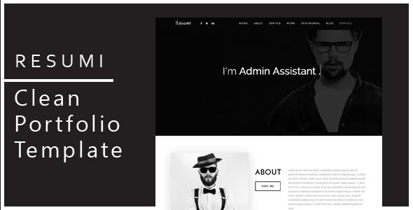 Resumi - Responsive Resume / Personal Portfolio Template