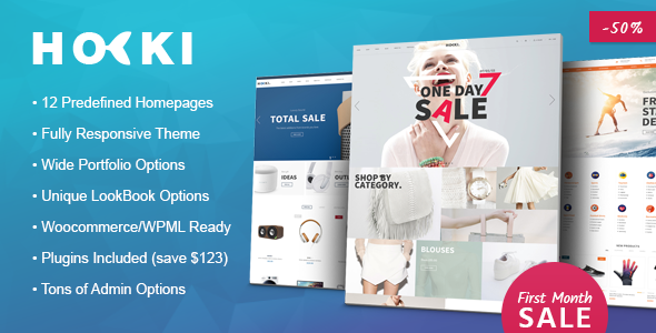 HOKI - Multi-Purpose Responsive WordPress & WooCommerce Theme