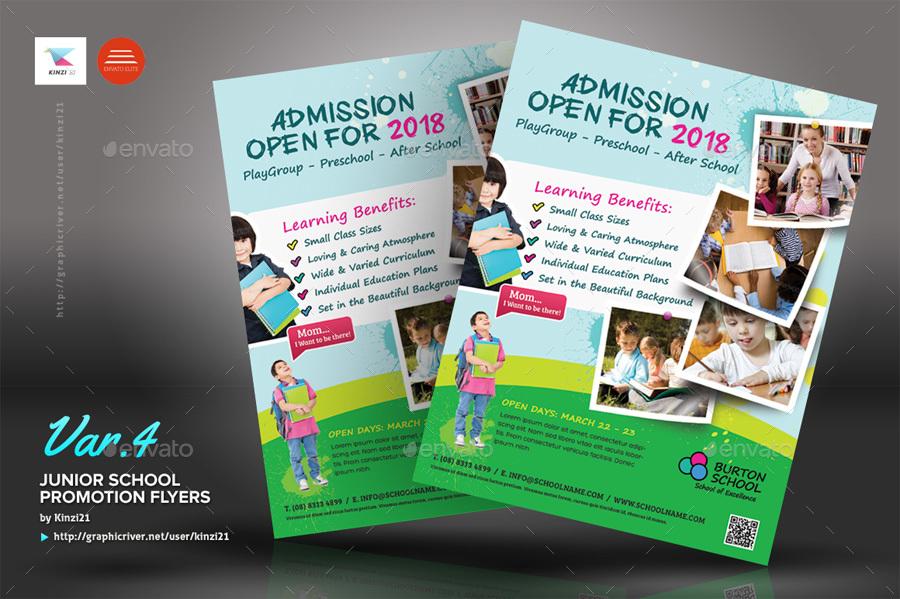 junior school promotion flyers by kinzi21