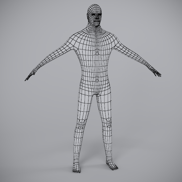 Low Poly Male Mesh (Optimized for Animation) - 3DOcean Item for Sale
