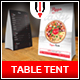 Pizza Table Tent Menu