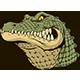 Ferocious Alligator Head
