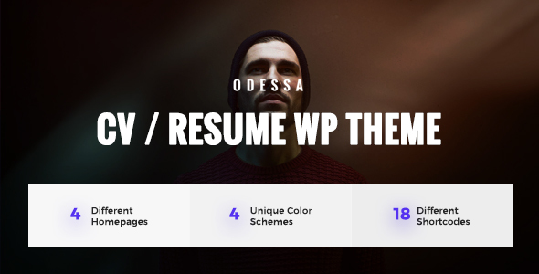 Download Odessa - Personal Resume, CV, VCard WordPress Theme nulled download