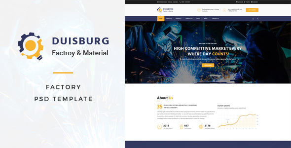 Duisburg - Factory PSD Template