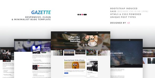 Gazette - Responsive Clean & Minimalist Multipurpose Blog Template