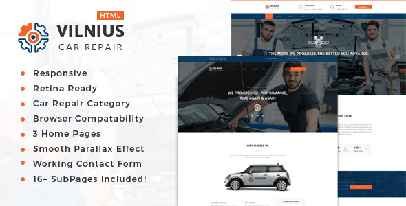 Vilnius || Auto Mechanic & Car Repair Template