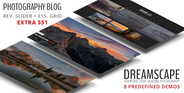 Dreamscape - Photography WordPress Blog Theme