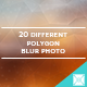 Polygon Background Blur Photo Version